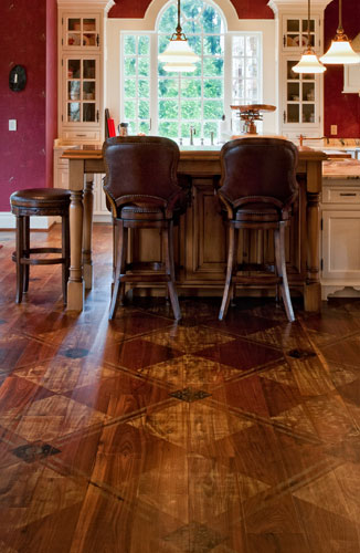 custom crafted hardwood flooring