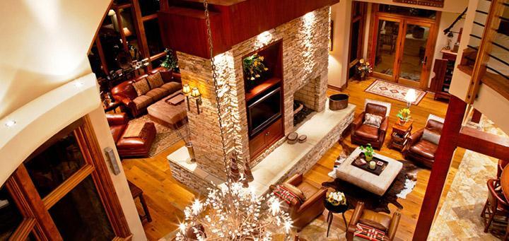 great room wooden flooring