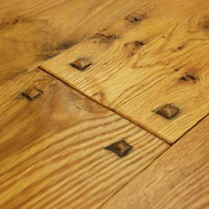 Hand shaved oak flooring
