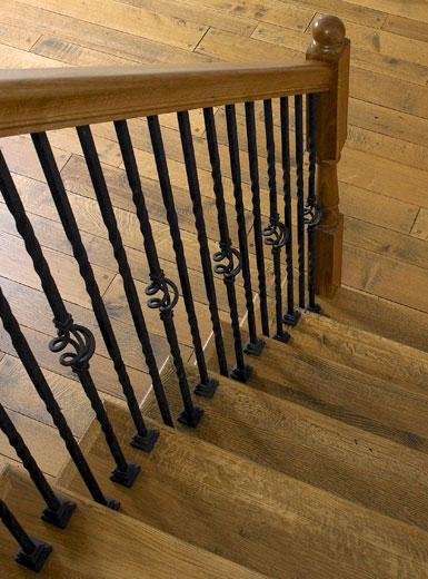rift and quartered white oak stairs