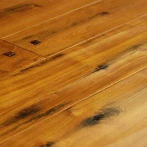 legacy red birch foot worn hardwood flooring with wooden pegs