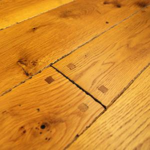 old trail white oak hardwood flooring with hand beveled edges