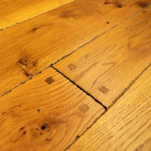 old trail white oak hardwood flooring with hand beveled edges
