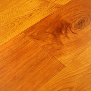 pioneer solid cherry hardwood floor with soft edges and finished on site