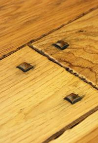 Rehmeyer's Authentic Hand Scraped Hickory Flooring with Wood Pegs