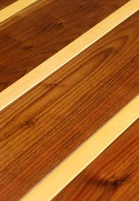 Rehmeyer Extreme Custom Flooring: Walnut & Maple Striped