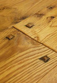 Authentic hand scraped White Oak with wood pegs