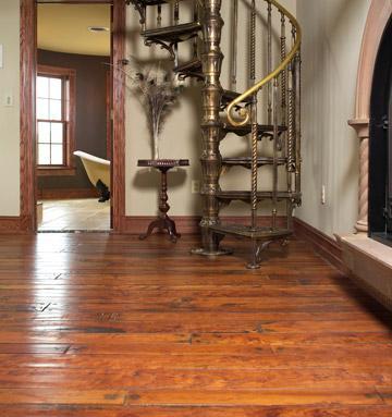 handscraped cherry hardwood floor
