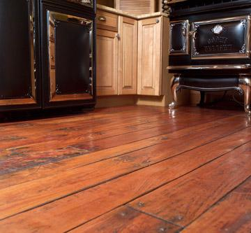 Handscraped cherry flooring