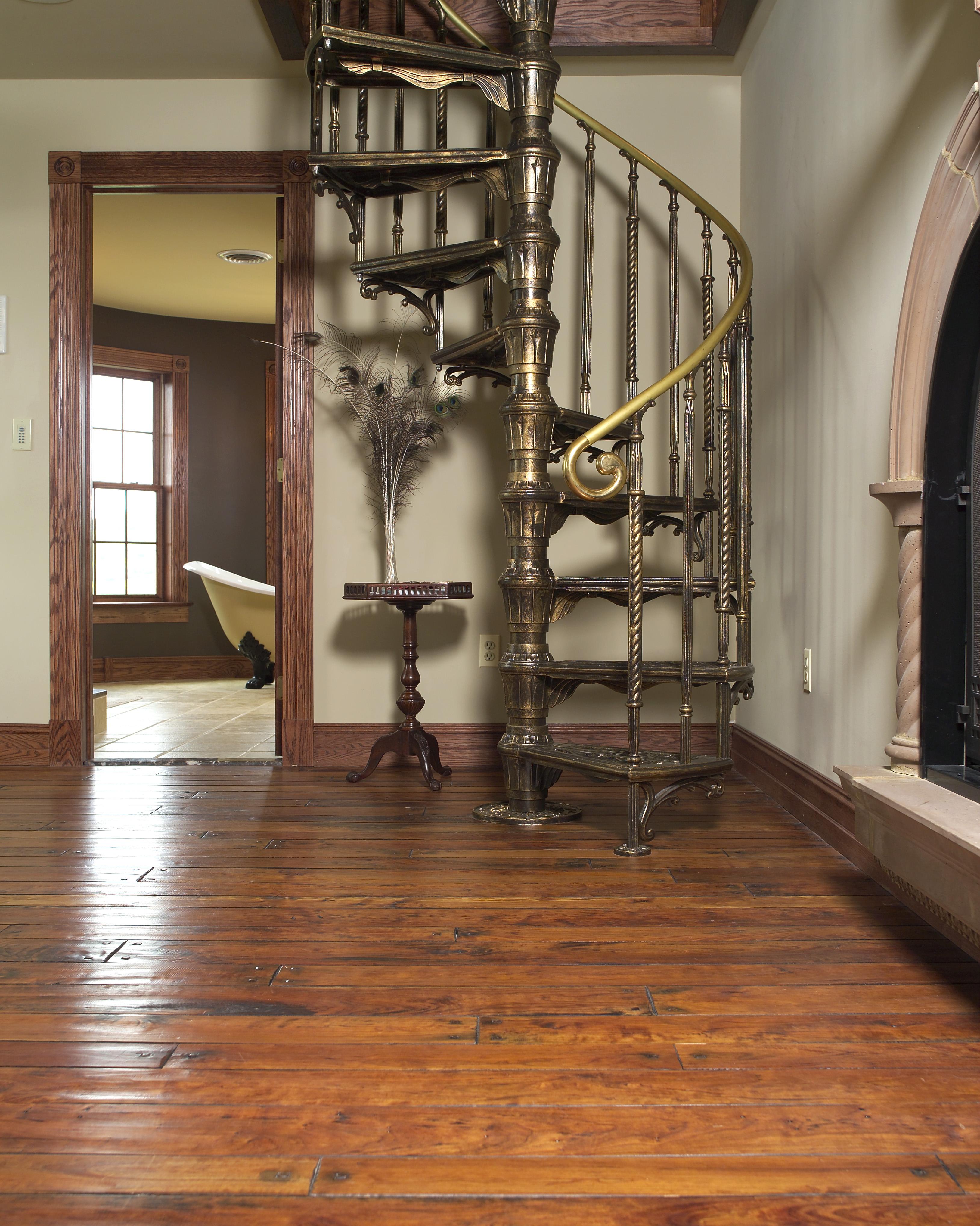 Antique Hand Scraped Cherry Floor