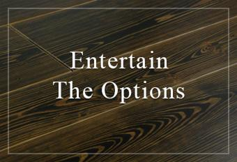 entertain the custom flooring options