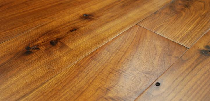 LED hardwax oil on solid black walnut flooring