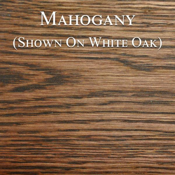 Mahogany Hardwax Oil on White Oak