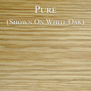 Pure color hardwax oil on white oak