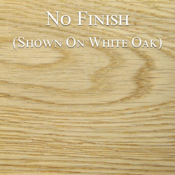 white oak with no finish