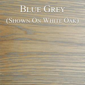 Blue Grey Hardwax Oil on White Oak